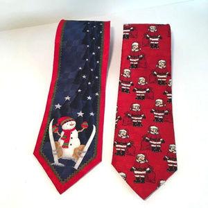 Other - Snowman Ski Tie & Bear Necktie